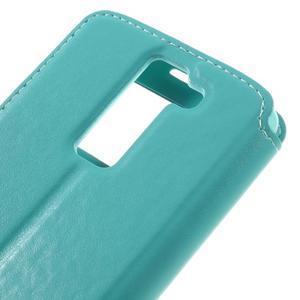 Richi PU kožené pouzdro na mobil LG K8 - azurové - 7