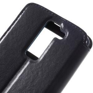 Richi PU kožené pouzdro na mobil LG K8 - tmavěmodré - 7