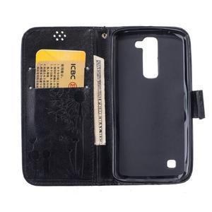 Dandelion PU kožené pouzdro na mobil LG K8 - černé - 7