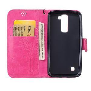 Dandelion PU kožené pouzdro na mobil LG K8 - rose - 7
