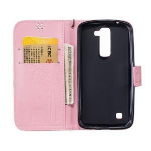 Dandelion PU kožené pouzdro na mobil LG K8 - růžové - 7