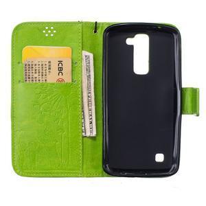 Dandelion PU kožené pouzdro na mobil LG K8 - zelené - 7