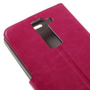 Horse PU kožené pouzdro na mobil LG K8 - rose - 7