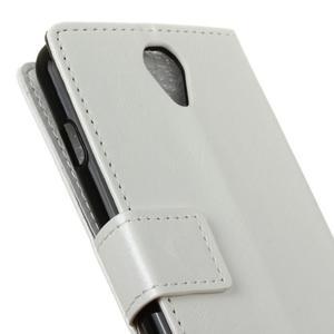 Lethy PU kožené pouzdro na mobil Acer Liquid Z6 - bílé - 7