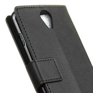 Standy PU kožené pouzdro na Acer Liquid Z6 - černé - 7
