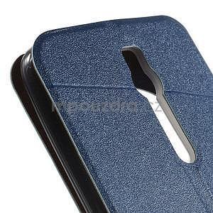 Modré klopové pouzdro s okýnkem na Asus Zenfone 2 ZE551ML - 7