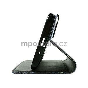 Zapínací peněženkové pouzdro na Asus Zenfone 2 ZE551ML - modrý motýl - 7
