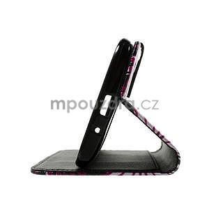 Zapínací peněženkové pouzdro na Asus Zenfone 2 ZE551ML - motýlci - 7
