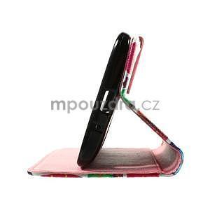 Zapínací peněženkové pouzdro na Asus Zenfone 2 ZE551ML - sovičky - 7