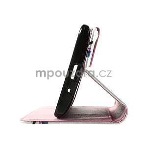 Zapínací peněženkové pouzdro na Asus Zenfone 2 ZE551ML - květiny - 7
