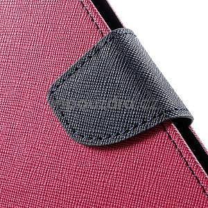 Zapínací PU kožené pouzdro na Asus Zenfone 2 ZE551ML - rose - 7