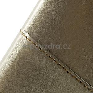 Champagne PU kožený/plastový kryt na Asus Zenfone 2 ZE551ML - 7