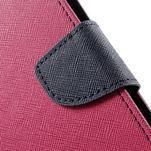 Zapínací PU kožené pouzdro na Asus Zenfone 2 ZE551ML - rose - 7/7