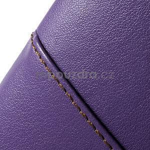 Fialový PU kožený/plastový kryt na Asus Zenfone 2 ZE551ML - 7