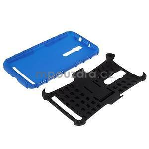 Vysoce odolný gelový kryt se stojánkem pro Asus Zenfone 2 ZE551ML - modrý - 7