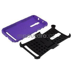 Vysoce odolný gelový kryt se stojánkem pro Asus Zenfone 2 ZE551ML - fialový - 7