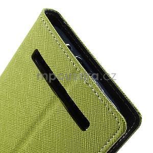 Zapínací PU kožené pouzdro na Asus Zenfone 2 ZE551ML - zelené - 7