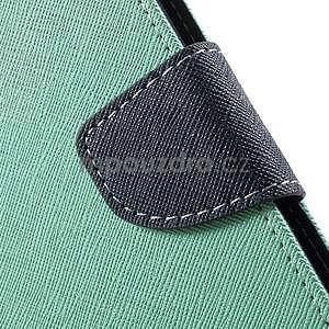 Zapínací PU kožené pouzdro na Asus Zenfone 2 ZE551ML - azurové - 7