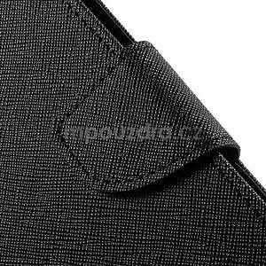 Zapínací PU kožené pouzdro na Asus Zenfone 2 ZE551ML - černé - 7