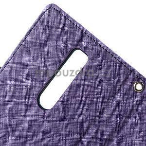 Zapínací PU kožené pouzdro na Asus Zenfone 2 ZE551ML - fialové - 7