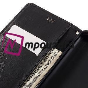 Butterfly knížkové pouzdro na mobil Lenovo Vibe C A2020 - černé - 7