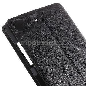 PU kožený obal s okýnky na Lenovo Vibe X2 - černý - 7