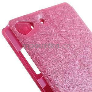 PU kožený obal s okýnky na Lenovo Vibe X2 - rose - 7