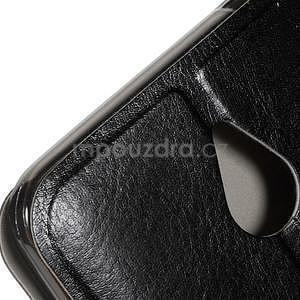 Peněženkové PU kožené pouzdro na Microsoft Lumia 640 XL - černé - 7