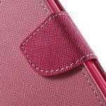 Dvoubarevné peněženkové pouzdro na iPhone 5 a 5s - růžové/rose - 7/7