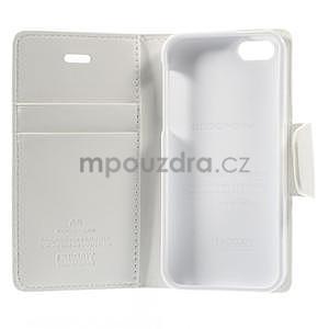 Peněženkové koženkové pouzdro na iPhone 5s a iPhone 5 - bílé - 7