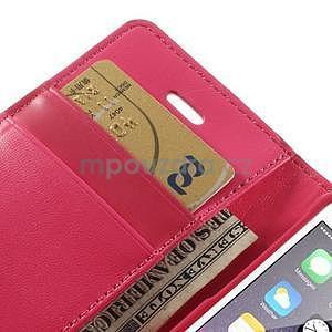 Dvoubarevné peněženkové pouzdro na iPhone 5 a 5s - rose/růžové - 7