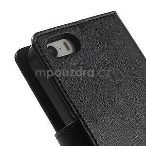 Černé koženkové peněženkové pouzdro na iPhone 5s a iPhone 5 - 7