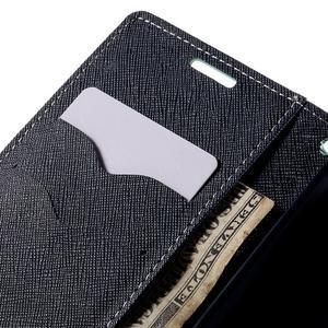 Diary PU kožené pouzdro na LG G4c - cyan - 7