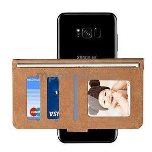 Croco PU kožené univerzálne puzdro na mobily do rozmeru 15,7 x 8 x1,8 cm - čierne - 7