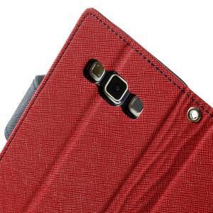 Diary PU kožené pouzdro na Samsung Galaxy A3 - červené - 7