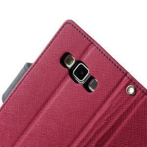 Diary PU kožené pouzdro na Samsung Galaxy A3 - rose - 7