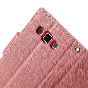 Diary PU kožené pouzdro na Samsung Galaxy A3 - růžové - 7
