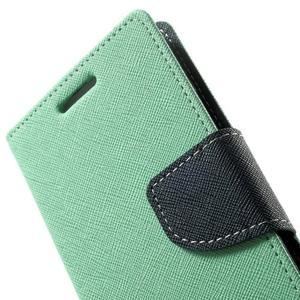 Diary PU kožené pouzdro na Samsung Galaxy A3 - cyan - 7