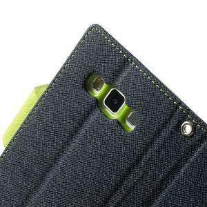 Diary PU kožené pouzdro na Samsung Galaxy A3 - tmavěmodré - 7