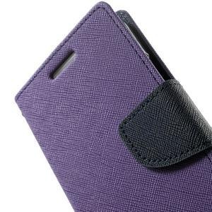 Diary PU kožené pouzdro na Samsung Galaxy A3 - fialové - 7