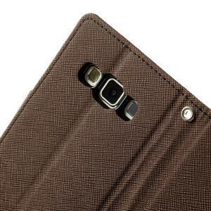 Diary PU kožené pouzdro na Samsung Galaxy A3 - hnědé - 7