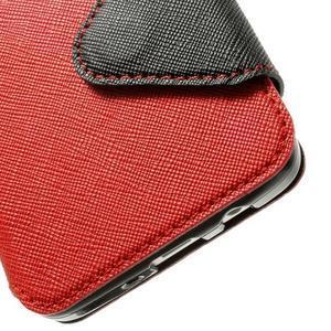 Roar peněženkové pouzdro s okýnkem na Samsung Galaxy A3 - červené - 7