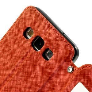 Roar peněženkové pouzdro s okýnkem na Samsung Galaxy A3 - oranžové - 7