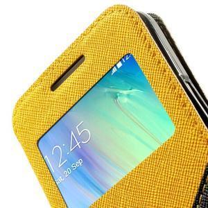 Roar peněženkové pouzdro s okýnkem na Samsung Galaxy A3 - žluté - 7