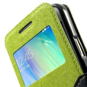 Roar peněženkové pouzdro s okýnkem na Samsung Galaxy A3 - zelené - 7