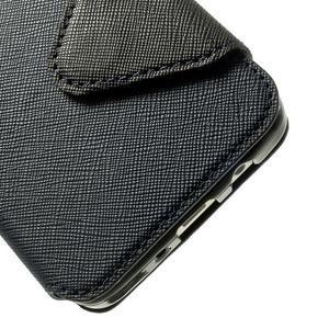 Roar peněženkové pouzdro s okýnkem na Samsung Galaxy A3 - tmavěmodré - 7