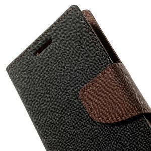 Fancy PU kožené pouzdro na Samsung Galaxy Core Prime - černé/hnědé - 7