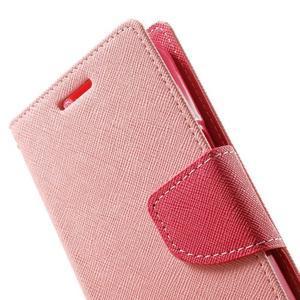 Fancy PU kožené pouzdro na Samsung Galaxy Core Prime - růžové - 7