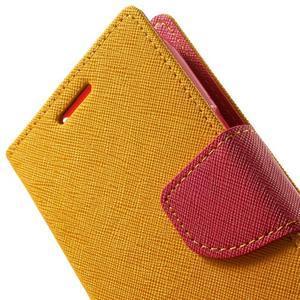 Fancy PU kožené pouzdro na Samsung Galaxy Core Prime - žluté - 7
