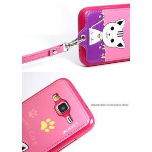 Kočička Domi obal na mobil Samsung Galaxy Core Prime - rose - 7